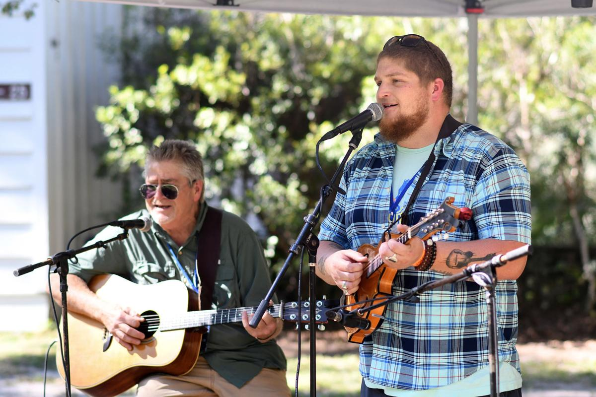 The band Cypress Creek performs on Friday, October 11, 2019 at the Edisto Blackwater Boogie held at Givhans Ferry State Park. By Joy Bonala