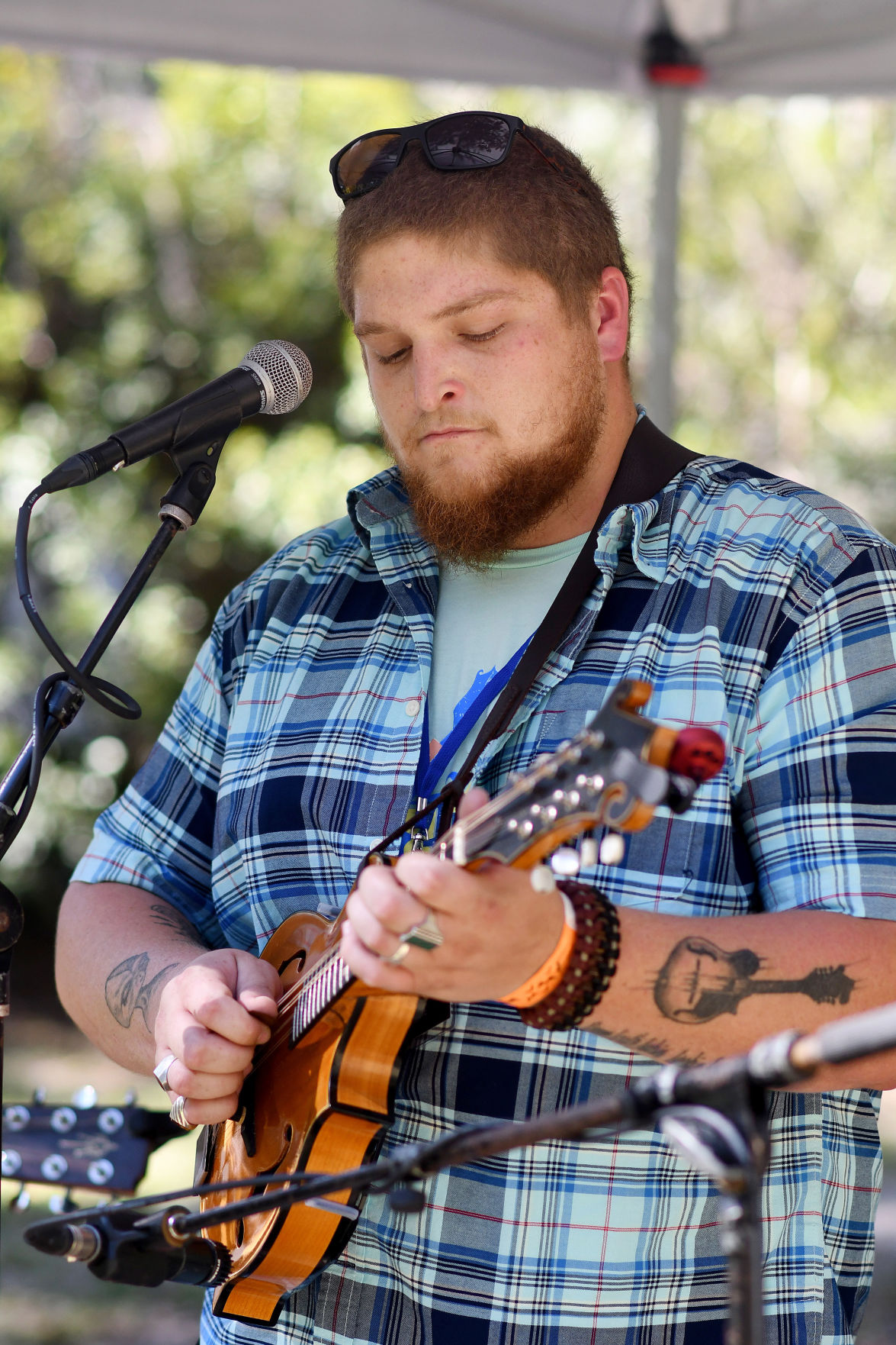 Daniell Vann performs at the Edisto Blackwater Boogie on Friday, October 11, 2019 at Givhans Ferry State Park. By Joy Bonala