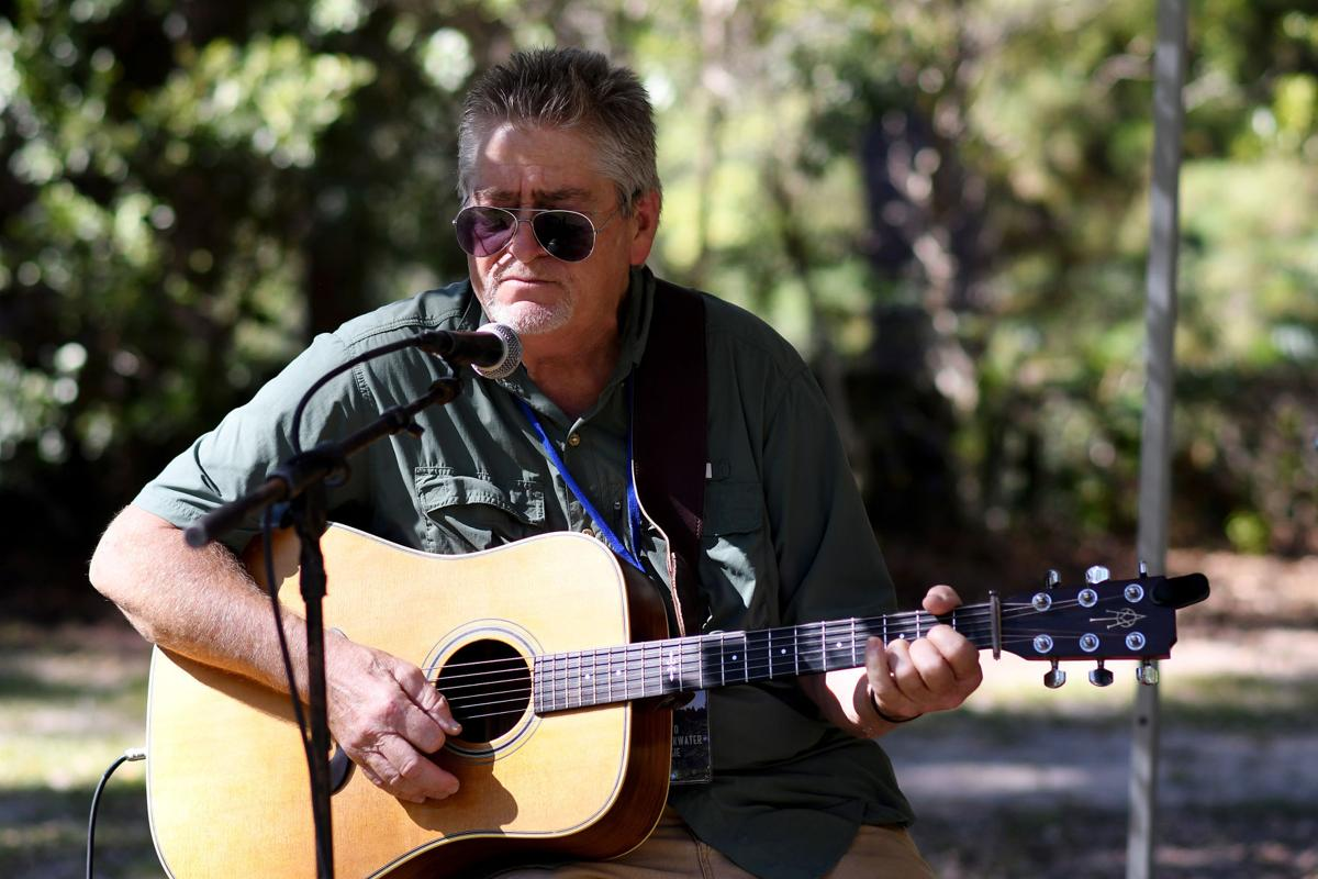 Mark Vann performs at the Edisto Blackwater Boogie on Friday, OCtober 11 2019 at Givhans Ferry State Park. By Joy Bonala