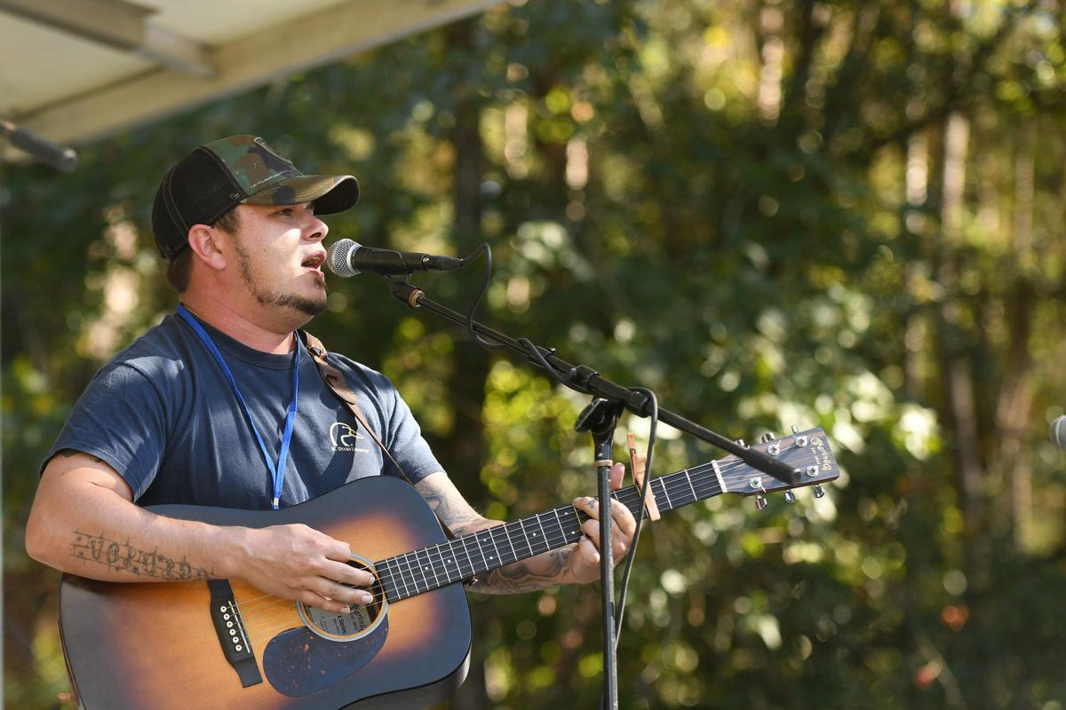 Montana Dishong and the Carolina Coastline perform at the Edisto Blackwater Boogie on Saturday, October 11, 2019 at Givhans Ferry State Park. By Joy Bonala