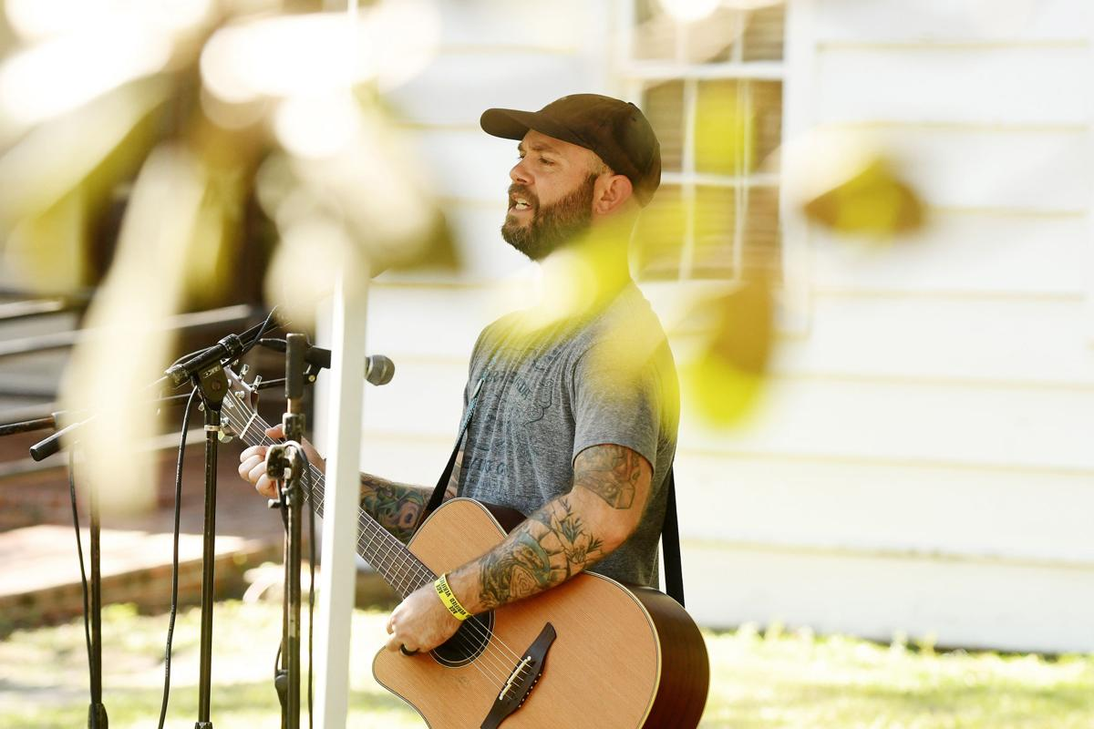Ben Somewhere performs at the Edisto Blackwater Boogie on Friday, October 11, 2019 at Givahns Ferry State Park. By Joy Bonala